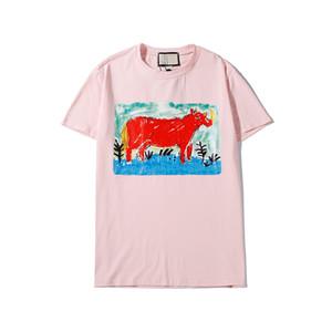 20ss Womens Fashion T Shirts Summer Men Women Printed O-Neck Short Sleeve High Quality Cotton T-Shirt Tees Tops Size S-XXL