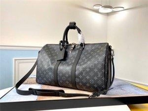 Duffel Sac Voyage pour Hommes Femmes cuir Marque Gym Sac Overnigh Week-end bagages brun noir 45 50 55 Sacs à main Keepall 2020