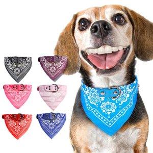 Pet Dog Cat Бандана Шарф Воротник Цветочная Печатный Регулируемая Doggy шейный Pet Треугольник шарфы Горячие SN1582 Продажа