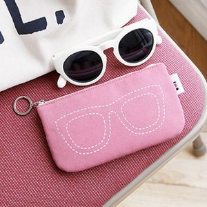 FANMILI Sun glasses storage travel outing sunglasses small eyebrow pencil storage dust bag lipstick bag