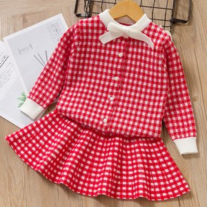 Bear Leader Girls Dress New Winter Princess Dress Sweet Plaid Girl Dresses Party Dress knitted Soft Kids Children Clothing 3 7Y T200709