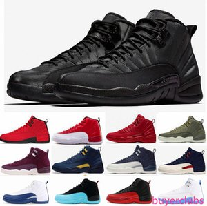 12 12s Basketball shoes for men Winterized WNTR Gym red Flu game CLASS OF 2003 Flu game GAMMA BLUE Jumpman s Sports Sneakers