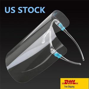 Máscara de Estados Unidos de la protección de la cara llena con la máscara transparente gafas anti fluidos careta de protección del polvo anti salpicaduras Boca Cara protectora transparente