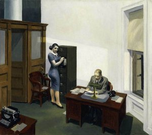 Edward Hopper oficinas en la noche Decoración Artesanías / impresión de HD pintura al óleo sobre lienzo de arte cuadro de la pared 200801