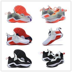 2020 Обувь New Lebroned Soldier 14 Черный и Белый Серый Оранжевый Баскетбол Мужчины Женщины Классический Открытый Джеймс Мужская мода Спорт Кроссовки