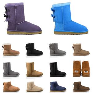 2020 botas de neve austrália womens boots ankle boots castanha cinza azul marinho mulheres tamanho roxo sapatos pretos da menina US 5-10