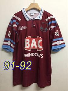 1991 1992 West Centenary Retro years Cole DI CANIO Lampard Dicks 1999 00 jersey camiseta 100 th Retro 99 00 Home Ham Retro soccer jersey