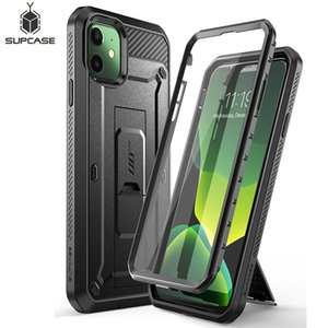"For iPhone 11 Case 6.1"" (2019 Release) SUPCASE UB Pro Full-Body Rugged Holster Cover with Built-in Screen Protector & Kickstand"