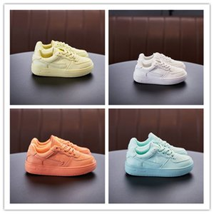 Toddler Chrysanthemum elastic band Children High Cut Casual Baby kids One 1 Dunk Shoes Sport Skateboarding Shoes Sneakers Forces Trainers