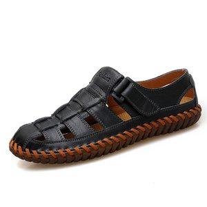 VANCAT New Summer 2019 Leisure Beach Men Shoes High Quality Genuine Leather The Men's Sandals Big size 39-47 MX200617