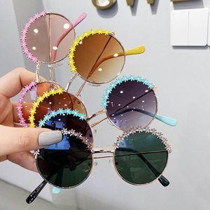 Мода цветка Детских солнцезащитных очков металлов девочек солнцезащитных очков дети дизайнер очки девочек Glasses принцесса ребенок очки оптовой B1582
