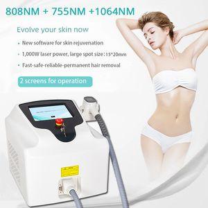 Salon 808 755 1064 Triple wavelength hair removal 808 diode laser permanent hair removal machine 1000w Soprano laser