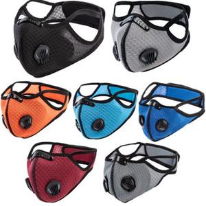 Bisiklet Yüz PM2.5 Anti-toz Kirliliği Savunma Running Maske Aktif Karbon Filtre Yıkanabilir Maskeler EEA1849 Spor Açık Eğitim Maskeler Maske