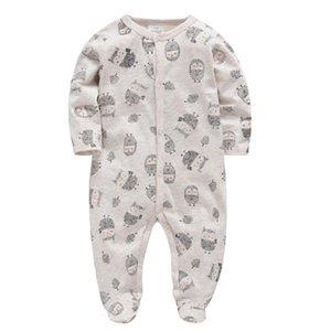 2020 Kavkas Baby Rompers Jumpsuit Organic Cotton Infant Baby Clothes for Gifts Beige Toddler Boys Girls Rompers Roupas