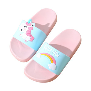 Summer Unicorn Slippers Women 2019 Casual Flip Flops Home Slippers Outdoor Flat Shoes Beach Slides Sandals Chaussures Femme Y200624