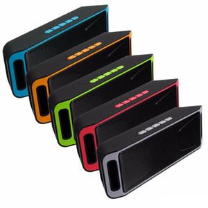 SC208 Мини Портативный Bluetooth Спикеры горячего надувательства Беспроводной Громко Музыкальный плеер Большой мощности Сабвуфер Поддержка TF USB FM-радио