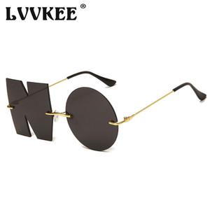2020 Latest Fashion Decorative NO Lens Sunglasses Men Women Brand Design Rimless Sun Glasses for female Unique Creativity Oculos