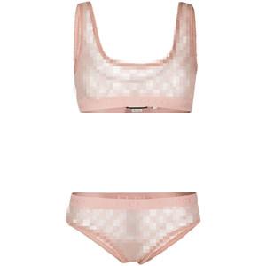 Moda Luxo G Letter malha Lingerie Sexy Womens Underwear respirável simples Pnk Meninas Bras Define Ins Hot Início Underclothes
