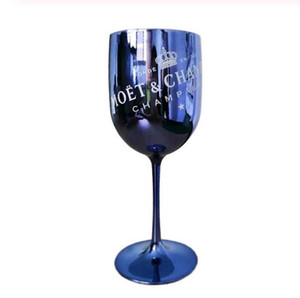 2pcs vinho taças de champanhe de plástico Electroplated branco, ouro rosa PS taça moet Cup