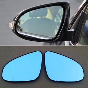 2pcs For Toyota Camry 7th Car Rearview Mirror Wide Angle Hyperbola Blue Mirror Arrow LED Turning Signal Lights