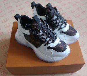 Louis Vuitton LV shoes Мода бренд мужской женщин дизайна случайных кроссовок FlashTrek с Тройного холстом обувью натуральной кожи обувь размером 36-45