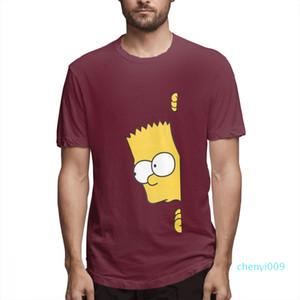 Cotton Os Simpsons desenhador de moda camisas camisas das mulheres dos homens de manga curta camisa Os Simpsons Impresso camisetas Causal c3706c09