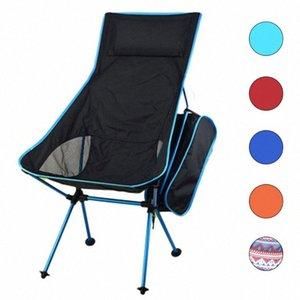 HooRu légère Chaise Portable Plage Pêche pliante Chaise d'extérieur Dossier Backpacking chaises de camping jardin avec sac de transport q4tM #