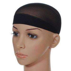 Unisexe Type chaussette en maille de nylon chauve perruque de cheveux Cap Stocking Doublure en filet extensible Snood Nu Beige Noir Marron Net Cap navire libre