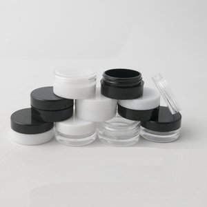 1ML 1G Plastic Empty Jar Cosmetic Sample Clear Pot Acrylic Make-up Eyeshadow Lip Balm Nail Art Piece Container Glitter Bottle Travel YTP691