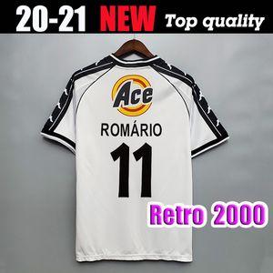 2000 Versão Retro Vasco da Gama Home Away Jersey 2000 2001 Romario Dede Luizao Camisa de Futebol Vasco da Gama Futebol Uniforme