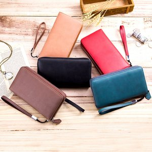 Women Zipper PU Leather Wallets Ladies Wallet Fashion Wallet Female Long Design Handbag Phone Bag Hot Sale