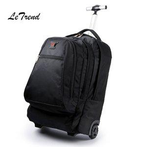 Nuevos Negocios del equipaje del balanceo del ordenador de 20 pulgadas Mochila de hombro del bolso del recorrido de la carretilla Ruedas Carry On Wheels bolso de escuela