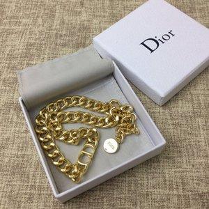 DIOR Entwerferschmucksachen Hip-Hop-Designer Halskette Schmetterling Anhänger der Männer heraus gefroren 14k Goldketten Anfangsbuchstaben Perlenketten n1