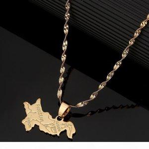 K Pakistan Karte Anhänger Halskette Gold Farbe Schmuck Pakistanis Schmuck Artikel