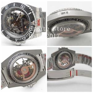 dial del reloj de cerámica Bisel mira el acero inoxidable 904L Esqueleto 3130 Diver automática Movimiento Negro Uni-direccional para hombre de VR fábrica