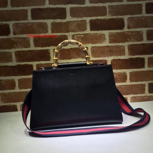 2020 Top Quality Brand design Letter Buckle Bamboo handle Handbag Woman Shoulder Bag Genuine Leather 453764 Fashion briefcase