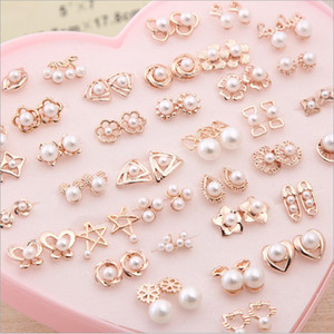 Jewelry Box Wholesale 36 Styles box Silver Gold Earrings Imitation Pearls Stud Earrings Girls Christmas Gift for Distributor