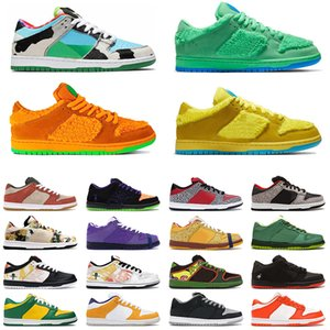 Ben Jerrys Chunky Dunky X Nike SB Dunk Brasil Homens Mulheres tênis de designer Travis Scott Panda Pigeo Raygun Tie Dye tênis de corrida dos homens