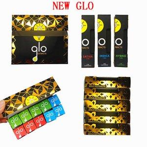 Glo cartucce GLO Carts ESTRATTO recenti cartucce della confezione 0,8 ml 1,0 ml di ceramica Coil atomizzatore 510 filetto vuoto di 10 colori in azione