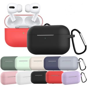Soft Liquid Silicone Case For Airpods Pro Protector Case Anti-lost Wireless Bluetooth Case For Airpods 3 With Hook