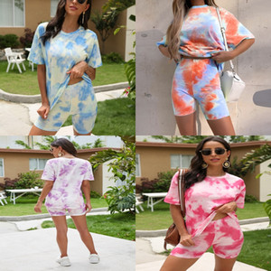 An And American Womens Tight Sexy Bag Hip Navel Two- 1Pcs Tie-Dye Printing Suit Hot Models#501