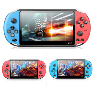 X12 5.1 inch Handheld Game Video Player 8G LED Screen Support Game download X12 Retro Consoles Support TF Card