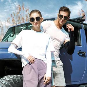 Спорт на открытом воздухе Мода Ice Шелковый рукава Ice Прохладный Дыхание Солнцезащитный рукава Летние перчатки для мужчин Женщины езда Training митенки CYZ2576