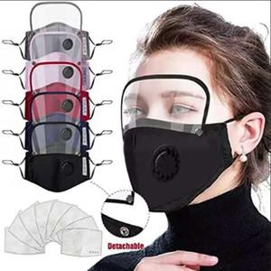 6style 2 1 Yüz Kalkanı Tam Yüz İzolasyon Maskeleri Anti-sis Yağ Koruyucu Kapak Vana Filtre GGA3583-10 Maske PET Ekranı Maske