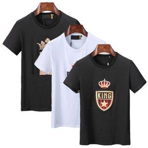 20ss Uomo Donna Summer Street Fashion Designer Europa America Stampa maniche corte casuale abito camicia a manica corta di colore solido T-shirt da uomo