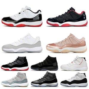 Jumpman 11 11s Chaussures de basket-ball Hommes Femmes Concord 45 Metallic Silver chapeau et robe Espace entraîneurs des hommes de sport Chaussures de sport Taille 36-47 Vente en ligne