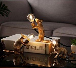 수지 쥐 마우스 램프 LED 테이블 램프 현대 소형 미니 마우스 귀여운 LED 데스크 램프 홈 인테리어 데스크 조명
