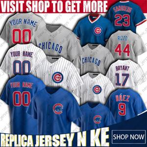 Chicago Cubs personalizado 9 Javier Baez Jersey Kris Bryant Jerseys Anthony Rizzo Jersey Ryne Sandberg Kyle Schwarber Yu Darvish Baseball Jersey