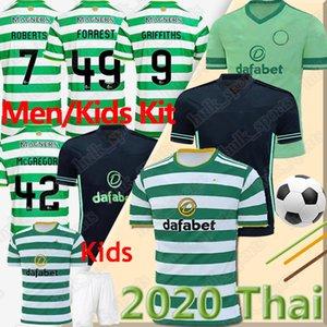 20 21 Maillots de football Celtic EDOUARD 2020 2021 BROWN FORREST CHRISTIE Maillot de football GRIFFITHS Celtic 3 hommes MCGREGOR + kids kit maison uniforme