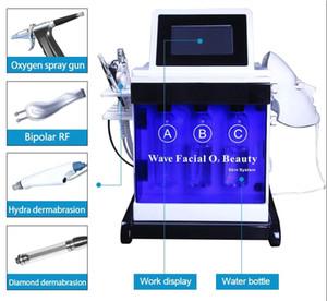 2 Versão 5 Em 1 Hydra Facial dermoabrasão Diamante Máscara dermoabrasão PDT Peeling Vacuum pele da limpeza da água do Aqua oxigênio spray